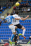 St Johnstone v Falkirk&hellip;23.07.16  McDiarmid Park, Perth. Betfred Cup<br />Luca Gasparotto fouls Graham Cummins for the third penalty<br />Picture by Graeme Hart.<br />Copyright Perthshire Picture Agency<br />Tel: 01738 623350  Mobile: 07990 594431