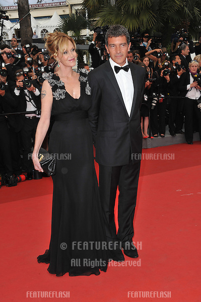 """Antonio Banderas & Melanie Griffith at the gala premiere for """"Midnight in Paris"""" the opening film at the 64th Festival de Cannes..May 11, 2011  Cannes, France.Picture: Paul Smith / Featureflash"""