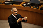 Syrian Ambassador to the United Nations Bashar Jaafari takes a picture at the end of to the security council meeting at the UN headquarter in New York, July 19, 2012.  UN Security Council vetoed a resolution that would impose sanctions against Syria's President Bashar al-Assad if he does not end the use of heavy weapons.  as members of the 15-nation council to block resolutions on Syria. Photo by Eduardo Munoz Alvarez / VIEW.