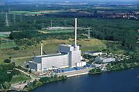 Deutschland, Schleswig- Holstein, Geesthacht, AKW Kruemmel, Atomkraftwerk, Elbe, Strom