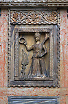A freize on the northern facade of the San Marco Cathedral in Venice, Italy