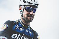 Pictures by Russell Ellis/SWpix.com - 10/04/2016 - Cycling - Paris-Roubaix - France - Paris-Roubaix 2016 - Tom Boonen of Team Etixx–Quick-Step before the race