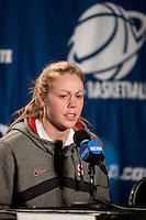 SPOKANE, WA - MARCH 27, 2011: Lindy La Rocque  during the off-day press conference, Stanford Women's Basketball, NCAA West Regionals on March 27, 2011.