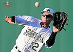 Right fielder Tyler Lesch (2) of the University of South Carolina Upstate Spartans catches a fly ball in a game against the UNC Asheville Bulldogs on Tuesday, March, 25, 2014, at Cleveland S. Harley Park in Spartanburg, South Carolina. (Tom Priddy/Four Seam Images)