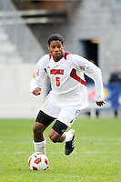 Andrew Farrell (5) of the Louisville Cardinals. The Louisville Cardinals defeated the Providence Friars 3-2 in penalty kicks after playing to a 1-1 tie during the finals of the Big East Men's Soccer Championship at Red Bull Arena in Harrison, NJ, on November 14, 2010.