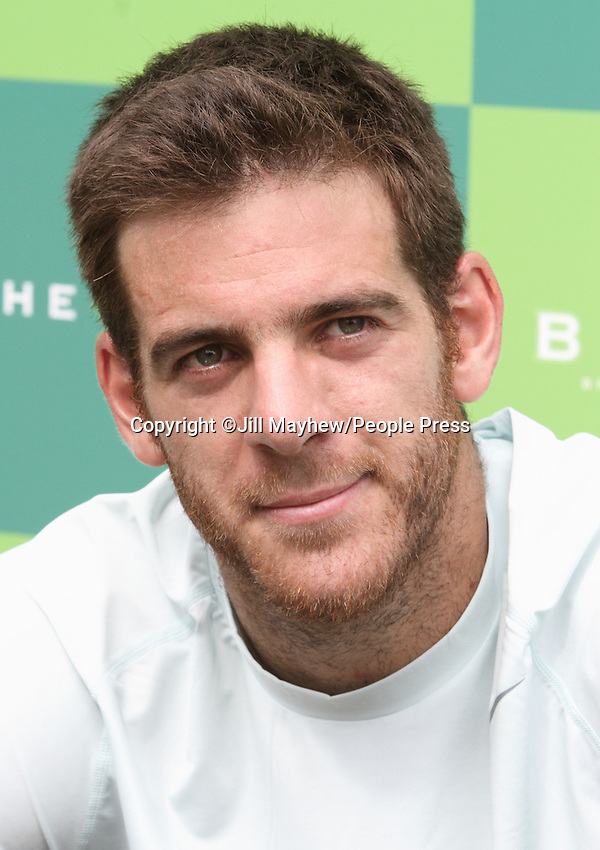 Juan Martin Del Potro at The Boodles Tennis Challenge held at Stoke Park, Buckinghamshire, UK - June 21st 2013<br /> <br /> Photo by Jill Mayhew