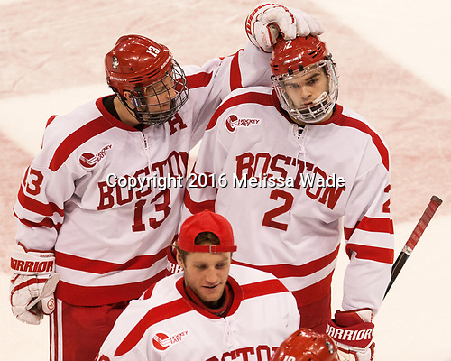 Nikolas Olsson (BU - 13), Shane Switzer (BU - 2) The Boston University Terriers defeated the visiting Yale University Bulldogs 5-2 on Tuesday, December 13, 2016, at the Agganis Arena in Boston, Massachusetts.
