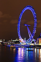 View of the London Eye at night