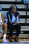 04 November 2015: UNC assistant coach Sylvia Crawley. The University of North Carolina Tar Heels hosted the Wingate University Bulldogs at Carmichael Arena in Chapel Hill, North Carolina in a 2015-16 NCAA Women's Basketball exhibition game. UNC won the game 86-84.