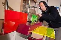 Polishing edge lit acrylic sheet at County Display of Leicester