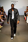 NFL Football Player Plaxico Burress on the Runway: New Premium Lounge Signed by INDASHIO Men's Collection Fashion Show at AUDI FORUM, NY 9/13/11