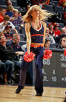 CHARLOTTESVILLE, VA- NOVEMBER 13: A Virginia Cavalier dancer performs during the game on November 13, 2011 at the John Paul Jones Arena in Charlottesville, Virginia. Virginia defeated South Carolina State 75-38. (Photo by Andrew Shurtleff/Getty Images) *** Local Caption ***