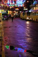Hong Kong at night,with reflection