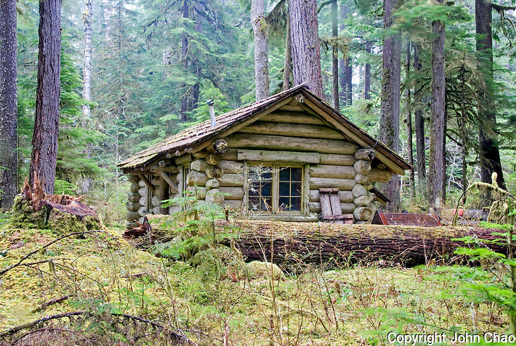 Ipsut creek ranger log cabin mount rainier national park for Washington state park cabins