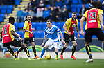 St Johnstone v Partick Thistle&hellip;29.10.16..  McDiarmid Park   SPFL<br />Danny Swanson is surrounded by thistle players<br />Picture by Graeme Hart.<br />Copyright Perthshire Picture Agency<br />Tel: 01738 623350  Mobile: 07990 594431