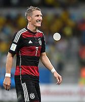 FUSSBALL WM 2014                HALBFINALE Brasilien - Deutschland          08.07.2014 Bastian Schweinsteiger (Deutschland)