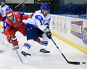 Sergey Chvanov (Russia - 9), Iiro Pakarinen (Finland - 10) - Russia defeated Finland 4-0 at the Urban Plains Center in Fargo, North Dakota, on Friday, April 17, 2009, in their semi-final match during the 2009 World Under 18 Championship.