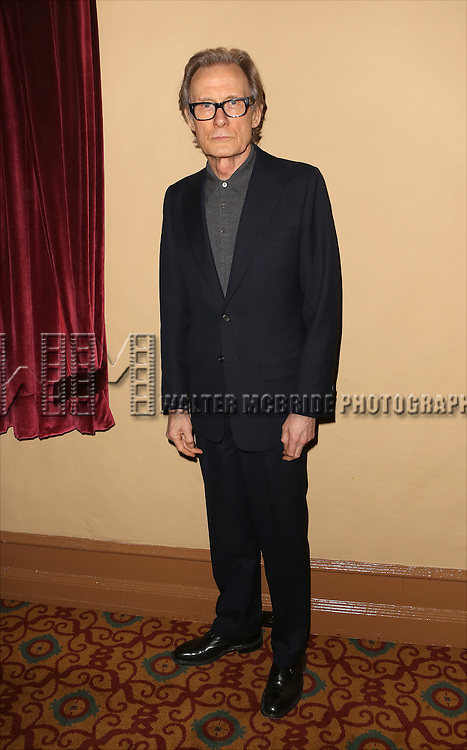 Bill Nighy attends the 'photo call for the Broadway production of Skylark' at the Golden Theatre on March 10, 2015 in New York City.