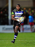 Semesa Rokoduguni of Bath Rugby in possession. Aviva Premiership match, between Bath Rugby and Saracens on April 1, 2016 at the Recreation Ground in Bath, England. Photo by: Patrick Khachfe / Onside Images