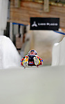 7 February 2009: Christopher Mazdzer slides for USA in the Men's Competition at the 41st FIL Luge World Championships, in Lake Placid, New York, USA. .  .Mandatory Photo Credit: Ed Wolfstein Photo