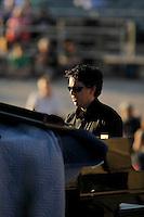 "Accompanied by live narration by San Antonio Spurs legend Sean Elliott, jazz pianist Aaron Prado performs the San Antonio Jazz Suite, a composition by Prado commissioned by Trinity University jazz radio station KRTU, during the KRTU ""Year of Jazz"" Festival, Sunday, Oct. 23, 2011, at Sunken Garden Theater in San Antonio, Texas, USA. (Darren Abate/pressphotointl.com)"