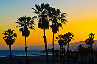 Santa Monica beach amid the sunset on Thursday, June 13, 2013.