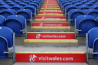 General view of Visit Wales singage ahead of Glamorgan vs Essex Eagles, Royal London One-Day Cup Cricket at the SSE SWALEC Stadium on 7th May 2017