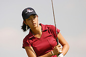 August 22, 2004; Dublin, OH, USA;  14 year old amateur Michelle Wie watches her ball after teeing off during the final round of the Wendy's Championship for Children golf tournament held at Tartan Fields Golf Club.  <br />Mandatory Credit: Photo by Darrell Miho <br />&copy; Copyright Darrell Miho