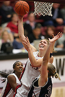 9 November 2006: Stanford Cardinal Kristen Newlin during Stanford's 88-61 win in the first round of the preseason Women's National Invitation Tournament against Loyola Marymount Lions at Maples Pavilion in Stanford, CA.