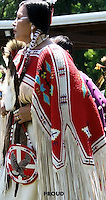 NATIVE AMERICAN  IN THE POW WOW PROCESSION