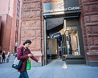 Time Warner Cable retail store with a banner rebranding it Spectrum in the Noho neighborhood of New York  on Thursday November 17, 2016. Following the acquisition of Time Warner Cable by Charter Communications the Time Warner Cable brand is being rebranded as Spectrum. (© Richard B. Levine)