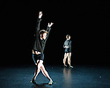 London, UK. 18.06.2015. English National Ballet presents CHOREOGRAPHICS, an evening of new work from emerging and developing choreographers, in the Lilian Baylis studio at Sadler's Wells. This piece is BABEL, choreographed by Joshua Legge. The dancers are: Jonathan Milton, Timothee Mochamps, Stefano Nappo, Archie Sullivan. Photograph © Jane Hobson.