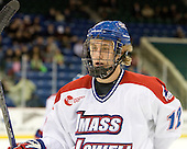 Josh Holmstrom (Lowell - 12) - The visiting University of New Hampshire Wildcats defeated the University of Massachusetts-Lowell River Hawks 3-0 on Thursday, December 2, 2010, at Tsongas Arena in Lowell, Massachusetts.