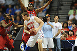 Ole Miss' Reginald Buckner (23) vs. Florida's Erik Murphy (33) in the SEC championship game at Bridgestone Arena in Nashville, Tenn. on Sunday, March 17, 2013.