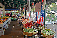 Amagansett Farmers' Market on Main Street, New York, Long Island, Amagansett