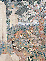 36 x 48 inch Leopard panel in a high-honed-pillowed finish