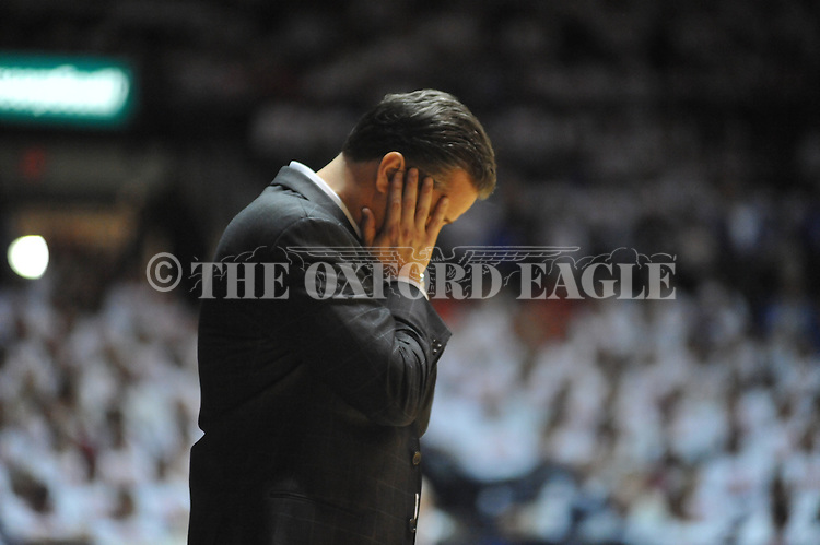 Kentucky head coach John Calipari reacts against Mississippi at the C.M. &quot;Tad&quot; Smith Coliseum on Tuesday, January 29, 2013.
