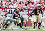 Deondre Francois passes in the first half of Florida State's 52-8 win over Charleston Southern in their NCAA football game at Doak Campbell Stadium in Tallahassee Florida September 10, 2016.  Francois went 25 for 32 and 262 yards and three touchdowns against the Buccaneers.