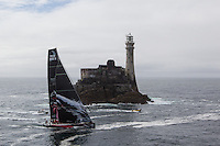 IRELAND, Fastnet Rock. 2nd July 2012. Volvo Ocean Race, Leg 9, Lorient to Galway. PUMA Ocean Racing powered by BERG rounds the Fastnet Rock.