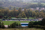 Matlock Town 0 Eastwood Town 3, 09/10/2010. Causeway Lane, FA Cup 3rd qualifying round. Matlock Town (blue) taking on Eastwood Town at Causeway Lane, Matlock in an FA Cup 3rd qualifying round tie, set amongst the hills of the Peak District. The visitors from Nottingham who play one division higher than Matlock won by three goals to nil to move to within one round of the FA Cup 1st round proper. The match was watched by 655 spectators. Photo by Colin McPherson.