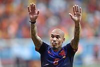 FUSSBALL WM 2014  VORRUNDE    Gruppe B     Spanien - Niederlande                13.06.2014 Nigel de Jong (Niederlande)  jubelt nach dem Abpfiff
