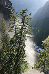From top of Vernal Falls, Mist Trail