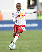 Dane Richards #19 of the New York RedBulls collects a pass during a MLS match against the Philadelphia Union on April 24 2010, at RedBull Arena, in Harrison, New Jersey.RedBulls won 2-1.
