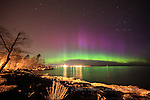 aurora borealis northern lights in the upper peninsula of michigan, marquette MI- featured in NASA News 04/12/2011, Spaceweather.com 0/12/2011