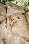 July 19, 2014. Asheboro, North Carolina.<br />  14 year old climber Kai Lightner has amassed 7 National Championship titles, 2 Pan American Championship titles, and 11 US Team designations since he started climbing eight years ago at age 6.