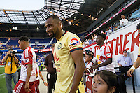 Harrison, NJ - Wednesday July 06, 2016: William Da Silva during a friendly match between the New York Red Bulls and Club America at Red Bull Arena.