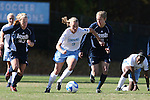 24 November 2007: North Carolina's Whitney Engen (9) is chased by Notre Dame's Elise Weber (23) and Amanda Cinalli (5). The University of Notre Dame Fighting Irish defeated University of North Carolina Tar Heels 3-2 at Fetzer Field in Chapel Hill, North Carolina in a Third Round NCAA Division I Womens Soccer Tournament game.