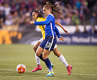 Seattle, WA - October 20, 2015:  The USWNT tied Brazil 1-1 during the USWNT Victory Tour at CenturyLink Field.