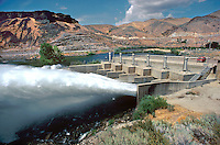 Lucky Peak Hydroelectric Dam on the Boise River. Idaho USA.