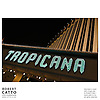 Neon sign reading 'Tropicana' on the front of a hotel on The Strip, Las Vegas, Nevada, USA.<br />